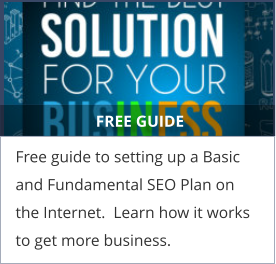 FREE GUIDE Free guide to setting up a Basic and Fundamental SEO Plan on the Internet.  Learn how it works to get more business.